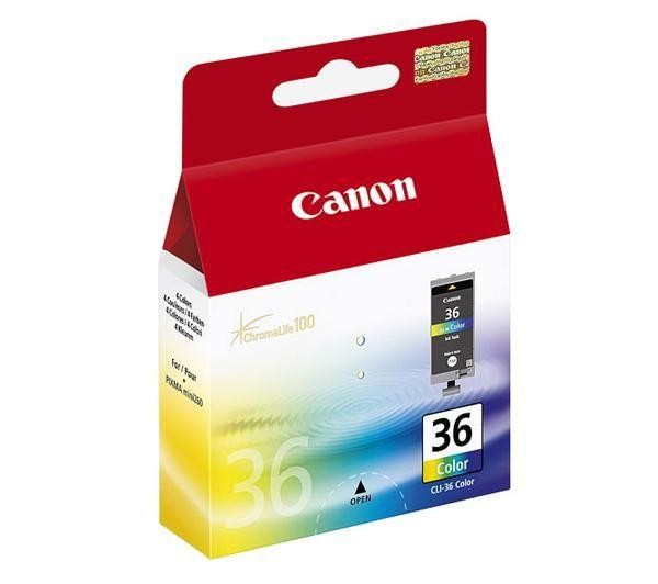 Canon CLI-36 Col tindikassett 1 tk Originaal Standard Yield Tsüaan, Magenta, Kollane