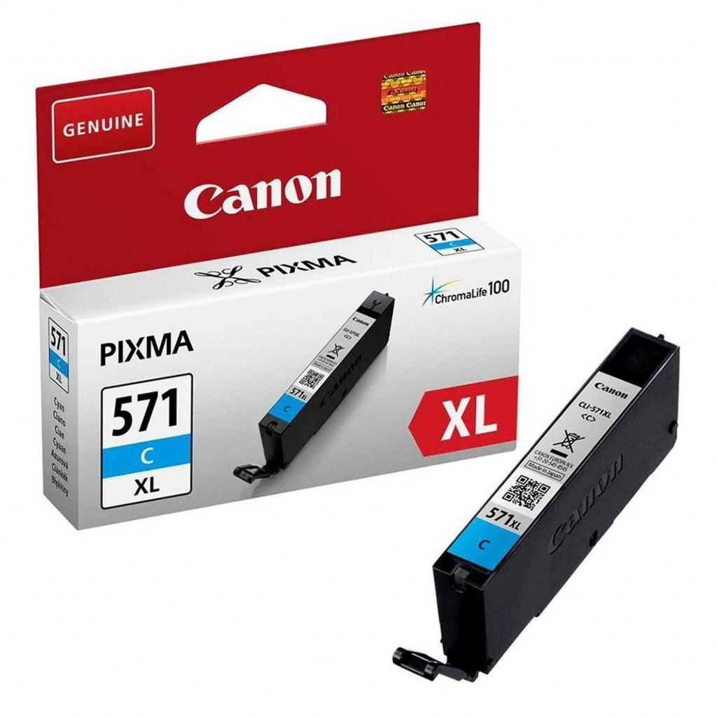 Canon CLI-571XLC ink cartridge, cyan
