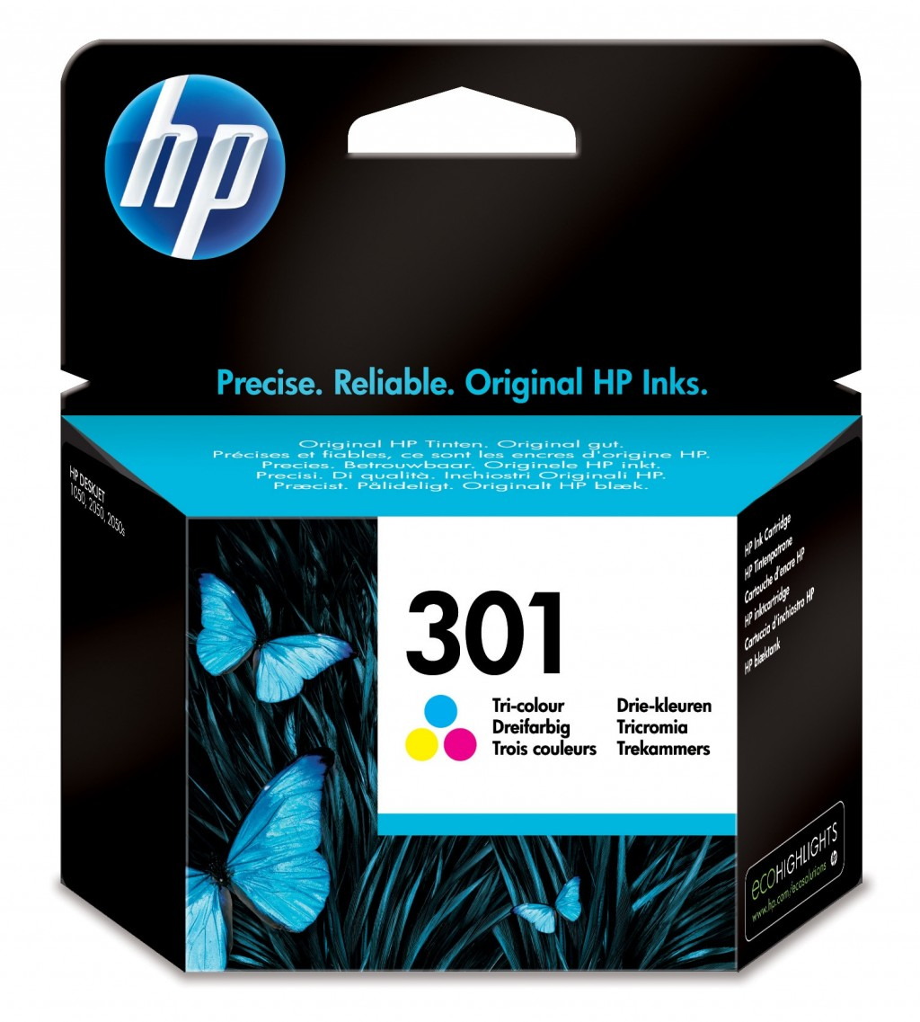 HP CH562EE ink cartridge No. 301, tricolor