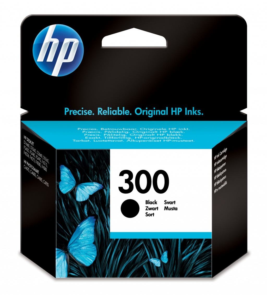 HP CC640EE ink cartridge No. 300, black