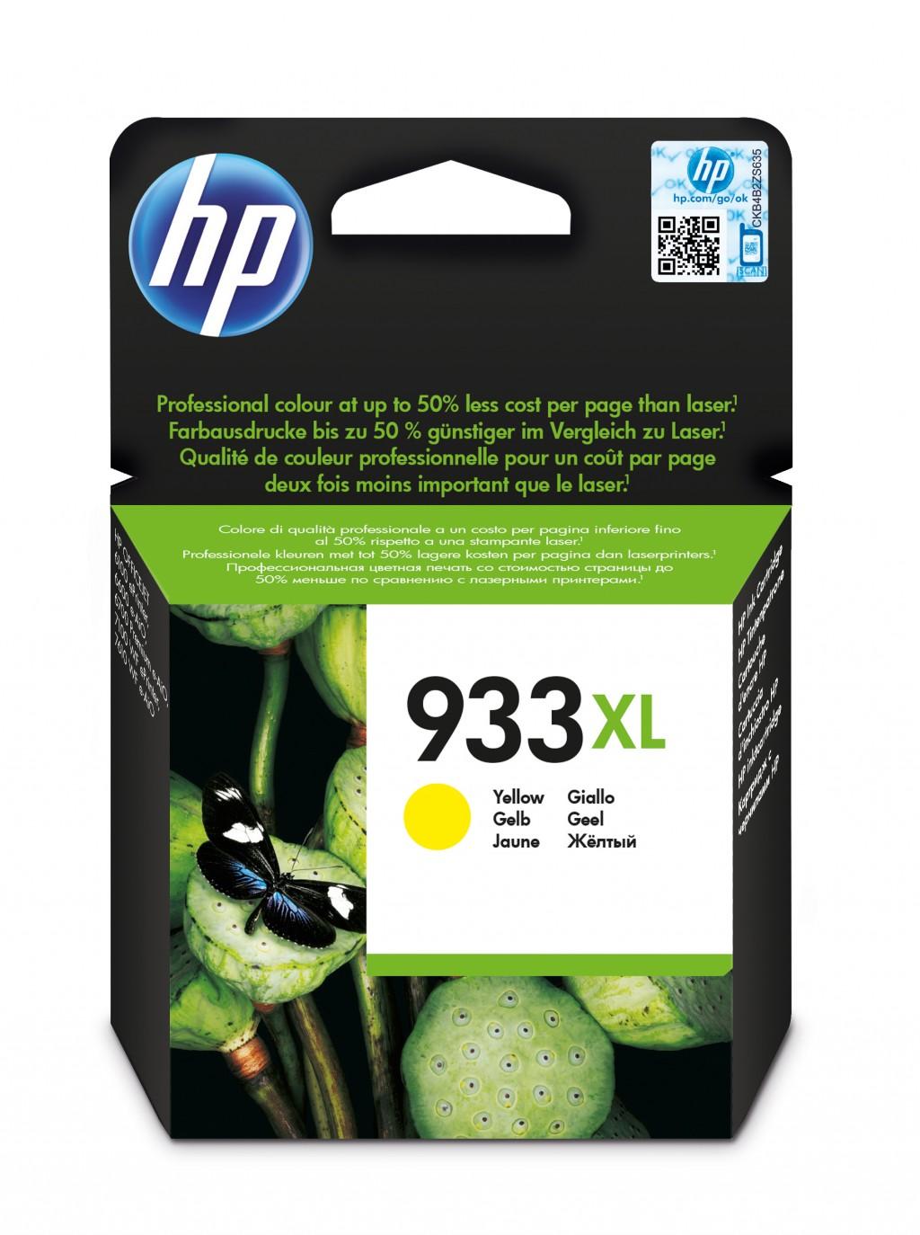 HP 933XL ink cartridge, yellow
