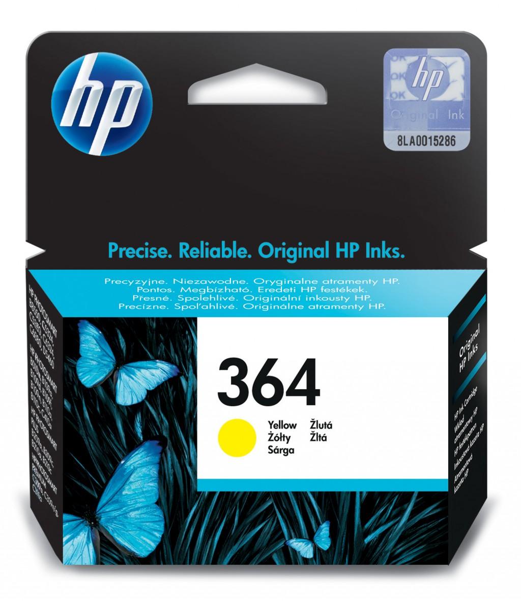HP CB320EE ink cartridge No. 364, yellow