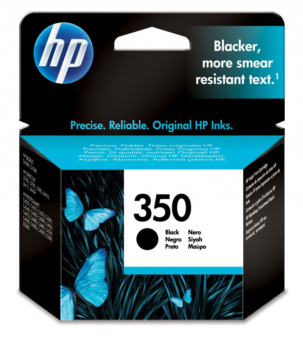 HP CB335EE ink cartridge No. 350, black