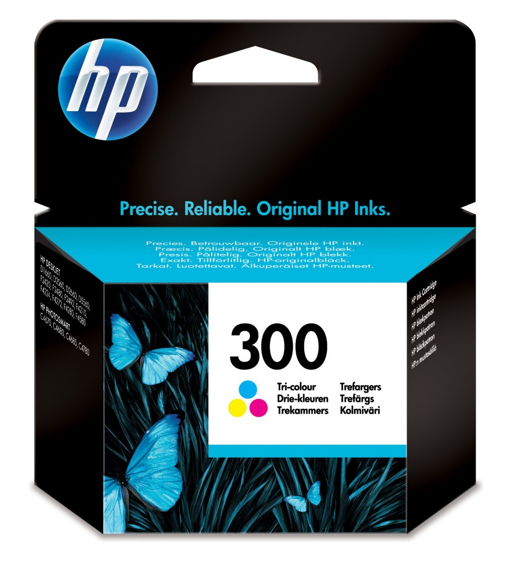 HP CC643EE ink cartridge No. 300, tricolor