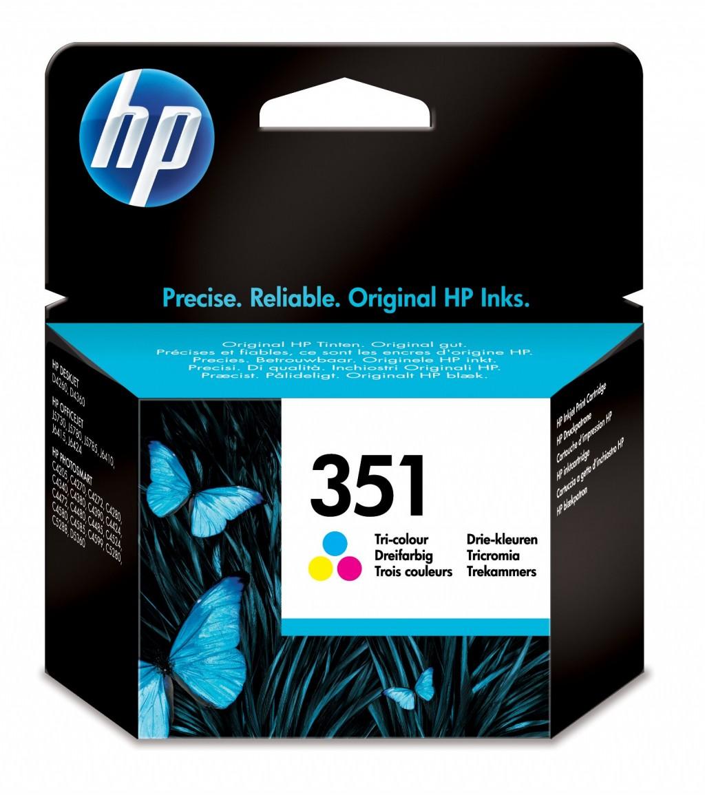 HP 351 Tri-color Original Ink Cartridge