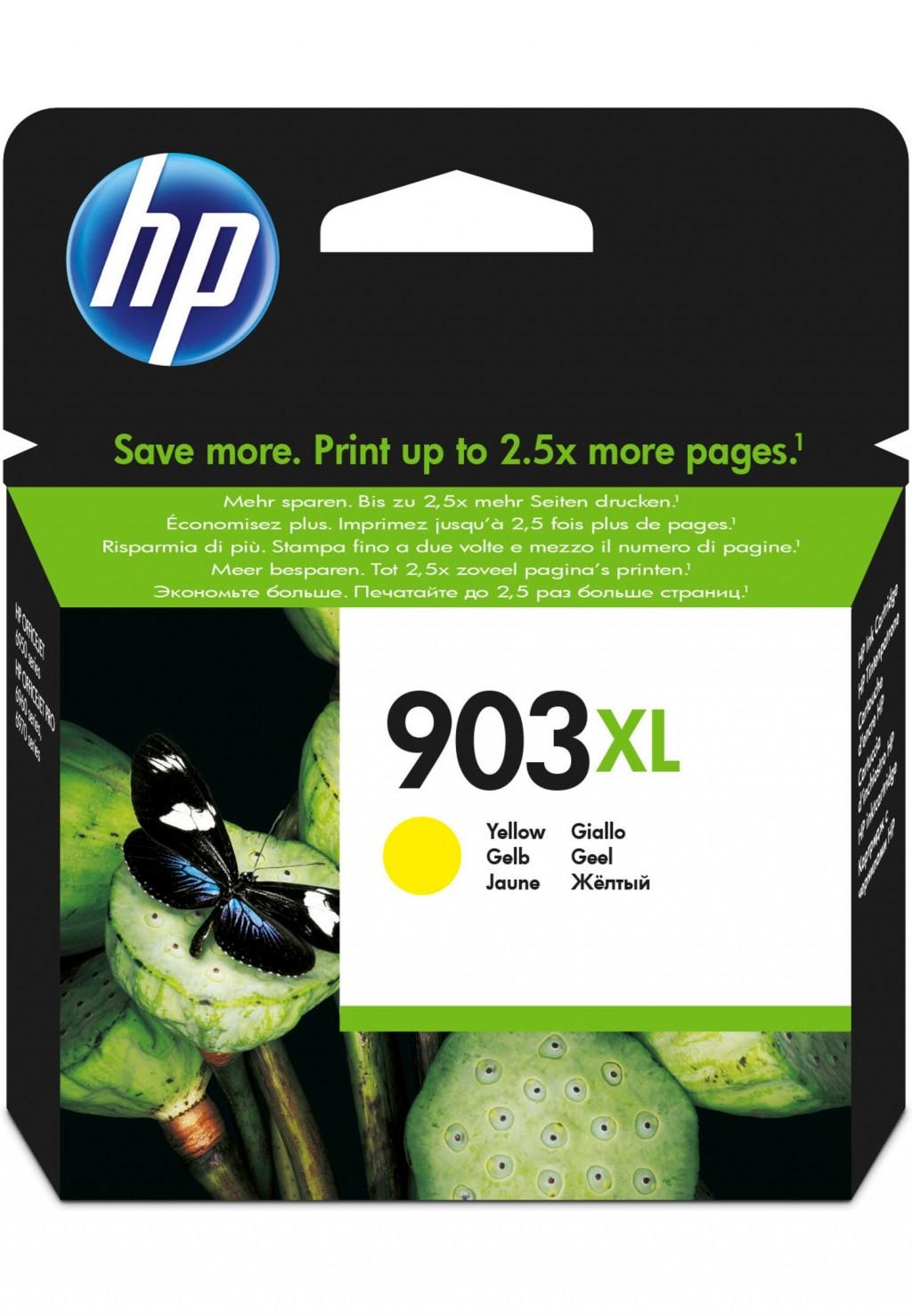 HP 903XL ink cartridge, yellow, high capacity