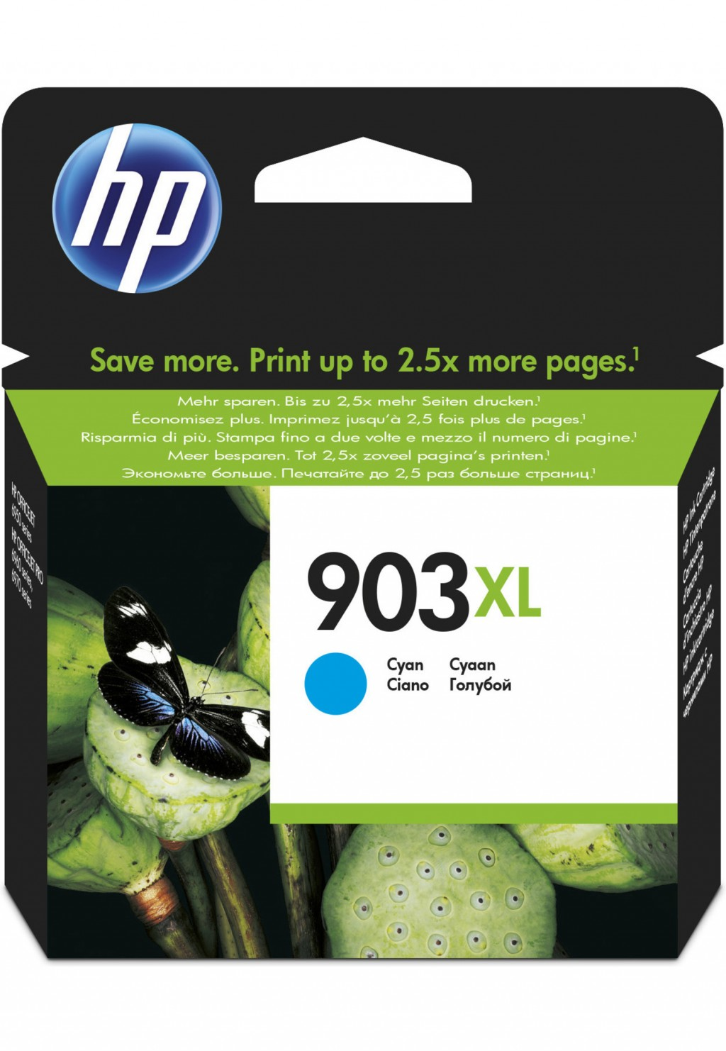 HP 903XL ink cartridge, cyan, high capacity
