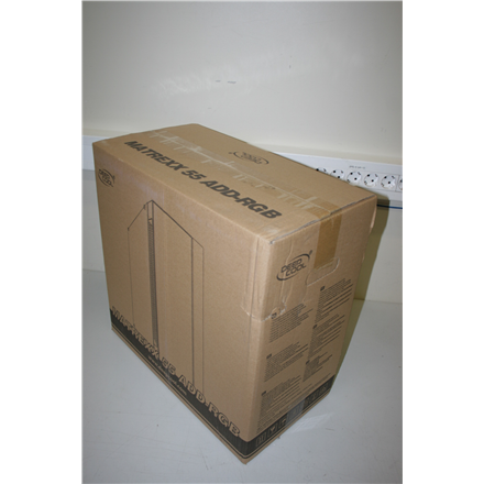 SALE OUT. Deepcool MATREXX 55 ADD-RGB WH Deepcool MATREXX 55 ADD-RGB WH Side window, White, E-ATX, REFURBISHED DAMAGED PACKAGING, Power supply included No, ADD-RGB SYNC