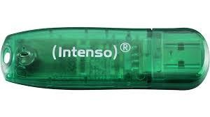 MEMORY DRIVE FLASH USB2 8GB/GREEN 3502460 INTENSO