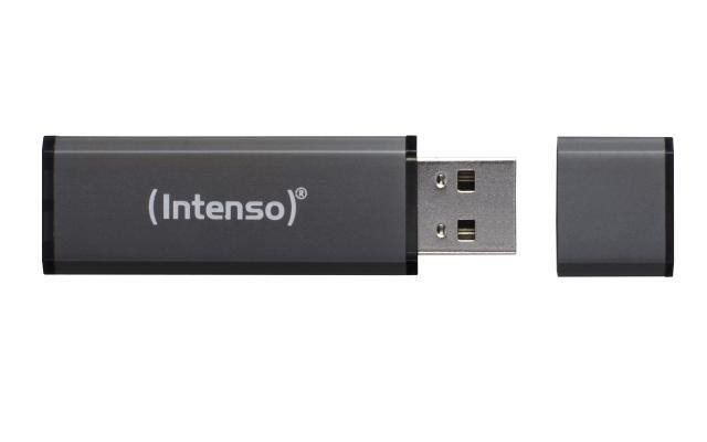 MEMORY DRIVE FLASH USB2 64GB/ANTHRACITE 3521491 INTENSO