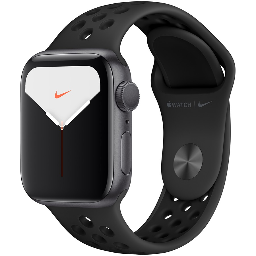 Apple Watch Nike Series 5 GPS, 40mm Space Grey Aluminium Case with Anthracite/Black Nike Sport Band Model nr A2092