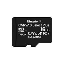 Kingston Technology Canvas Select Plus mälukaart 16 GB MicroSDHC Klass 10 UHS-I