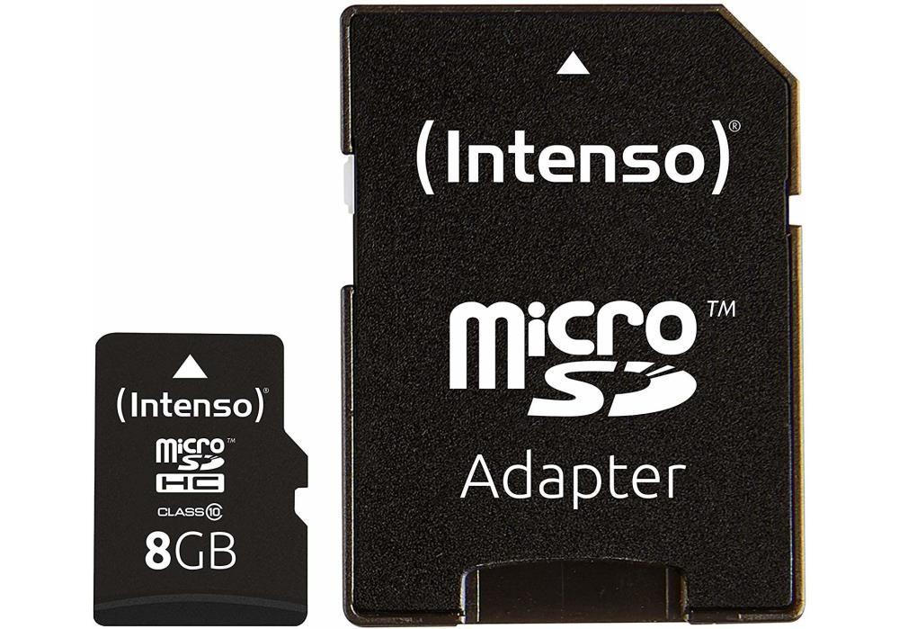 MEMORY MICRO SDHC 8GB C10/W/ADAPTER 3413460 INTENSO