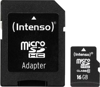 MEMORY MICRO SDHC 16GB C10/W/ADAPTER 3413470 INTENSO