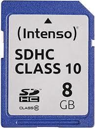 MEMORY SDHC 8GB C10/3411460 INTENSO