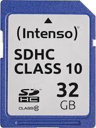 MEMORY SDHC 32GB C10/3411480 INTENSO