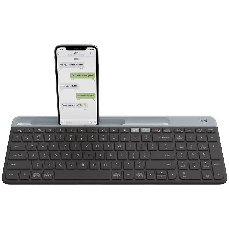 LOGITECH Slim Multi-Device Wireless Keyboard K580 - GRAPHITE - RUS - 2.4GHZ/BT - INTNL