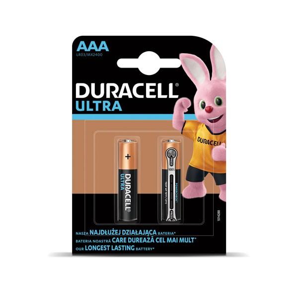 Patarei Duracell Ultra AAA, 2tk