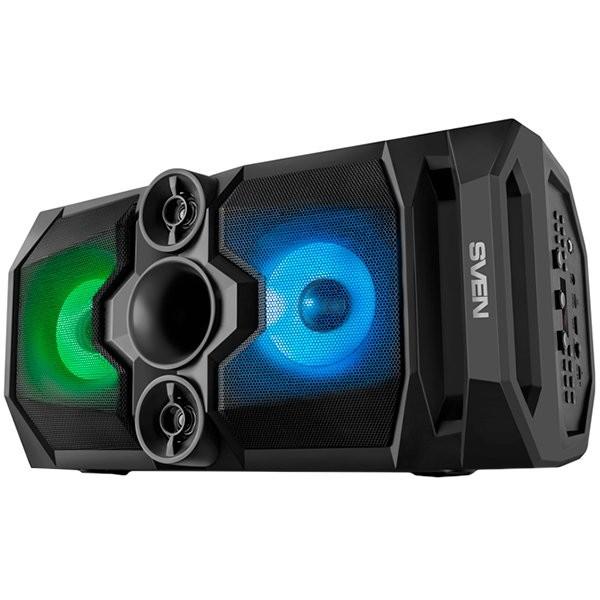 Speaker SVEN PS-650, black, power output 2x25W (RMS), TWS, Bluetooth, FM, USB, microSD, LED-display, lithium battery