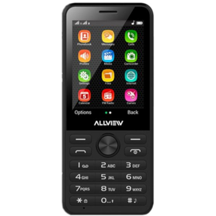 "Allview M11 Luna Black, 2.8 "", QVGA, 240 x 320 pixels, Dual SIM, Bluetooth, 2.0, Built-in camera, Main camera 2 MP"