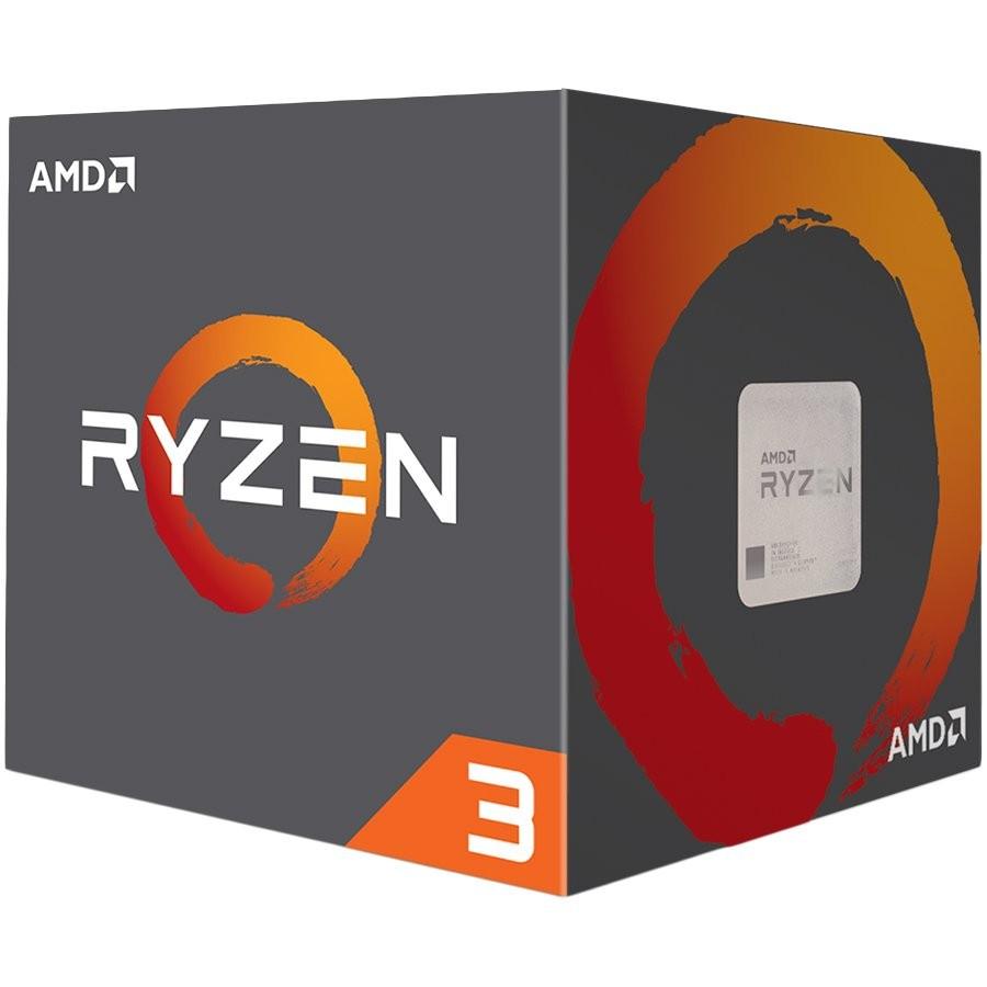 AMD CPU Desktop Ryzen 3 4C/8T 3100(3.9GHz,18MB,65W,AM4) box, with Wraith Stealth cooler