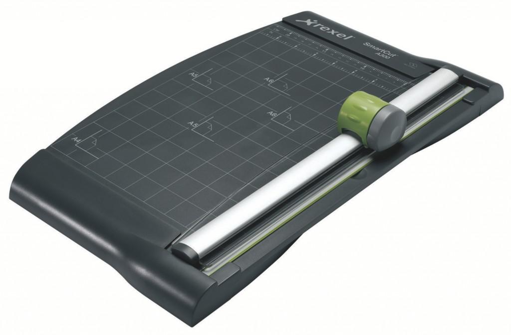 Paberilõikaja REXEL A4 3in1 SmartCut A300 must koos läbipaistva joonlauaga