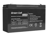 GREEN CELL Battery AGM 6V 10 Ah