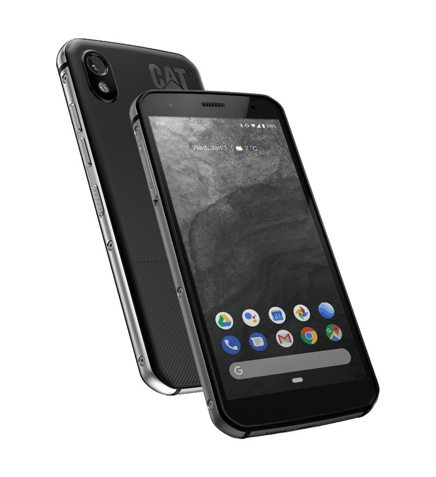 "CAT S52 Black, 5.65 "", IPS, 720 x 1440 pixels, Mediatek MT6765 Helio P35, Internal RAM 4 GB, 64 GB, microSD, Dual SIM, Nano-SIM, 4G, Main camera 12 MP, Secondary camera 8 MP, Android, 9.0, 3100 mAh"
