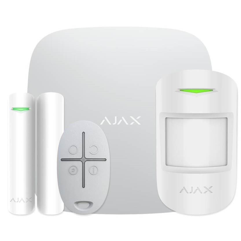 ALARM SECURITY STARTERKIT CAM/PLUS WHITE 20294 AJAX