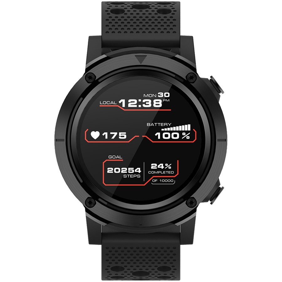 CANYON Wasabi SW-82 Smart watch, 1.3inches IPS full touch screen, Alloy+plastic body,GPS function, IP68 waterproof, multi-sport mode with swimming mode, compatibility with iOS and android, 500mAh big battery, Host: D48x T15.0mm, Strap: 240x22mm, 70g