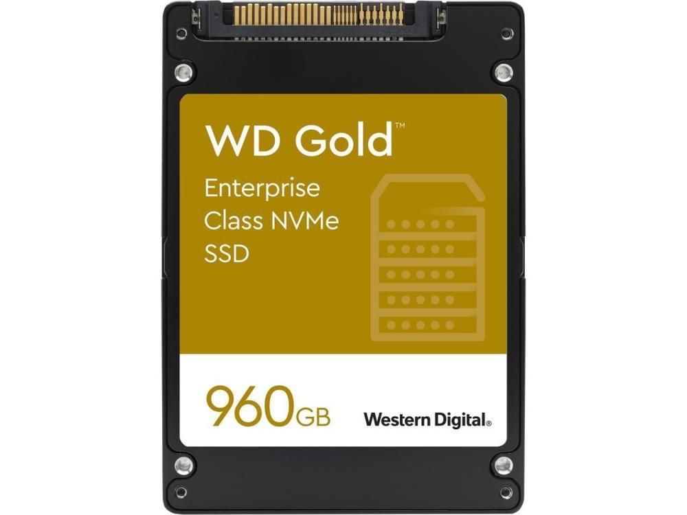 SSD|WESTERN DIGITAL|SSD series WD Gold|960GB|PCIE|NVMe|Write speed 1100 MBytes/sec|Read speed 3000 MBytes/sec|Form Factor U.2|MTBF 20000000 hours|WDS960G1D0D