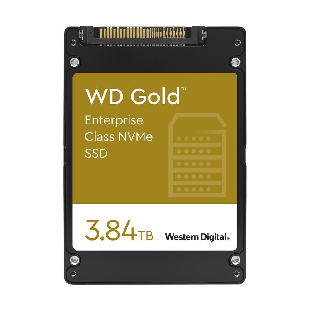 SSD|WESTERN DIGITAL|SSD series WD Gold|3.84TB|PCIE|NVMe|Write speed 1800 MBytes/sec|Read speed 3100 MBytes/sec|Form Factor U.2|MTBF 2000000 hours|WDS384T1D0D