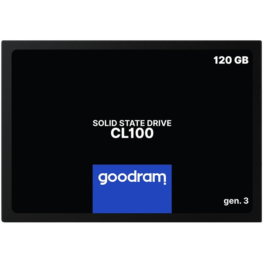 "GOODRAM CL100 GEN. 3 120GB SSD, 2.5"" 7mm, SATA 6 Gb/s, Read/Write: 500 / 360 MB/s"