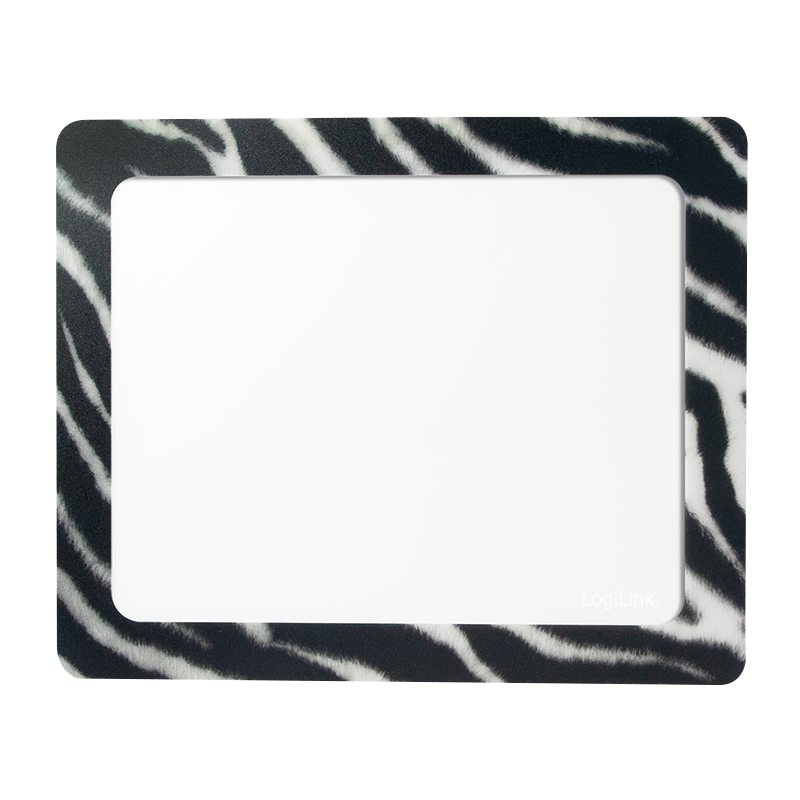 Logilink ID0168 Mouse pad, 230x190 mm, Photo, Zebra