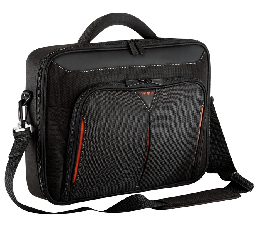 Targus Clamshell Laptop Bag CN418EU Black/Red, Shoulder strap, Briefcase