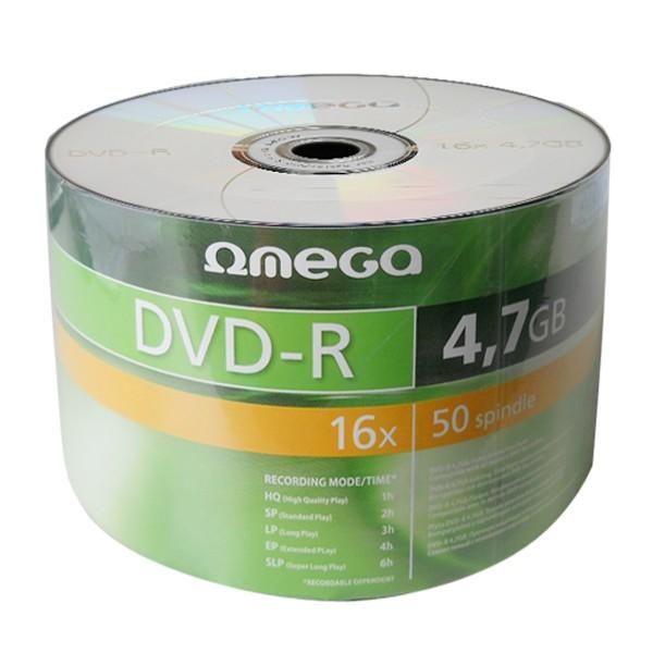 OMEGA DVD-R 4,7GB 16X, pakk (50 tükk) [40933]