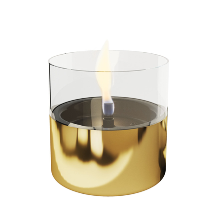 Tenderflame Table burner Lilly 1W Glass Diameter 10 cm, 12 cm, 200 ml, 7 hours, Gold