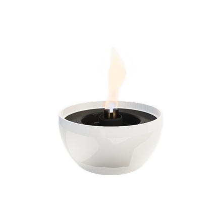 Tenderflame Table burner Rose 3W Porcelain Diameter 14 cm, Height 7.5 cm, 300 ml, 4-5 hours, White