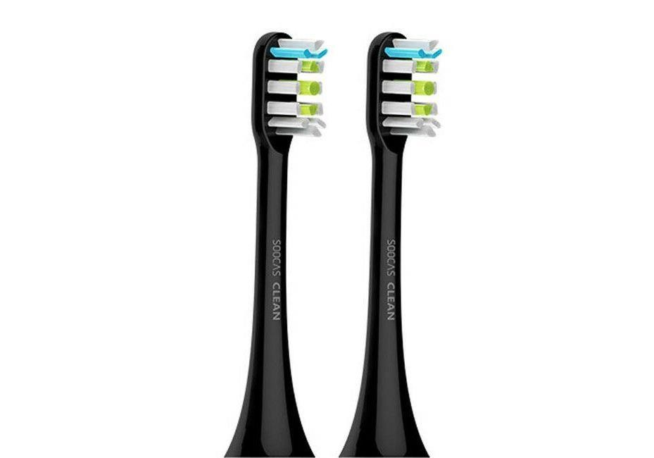 ELECTRIC TOOTHBRUSH ACC HEAD/BLACK 2PCS SOOCAS