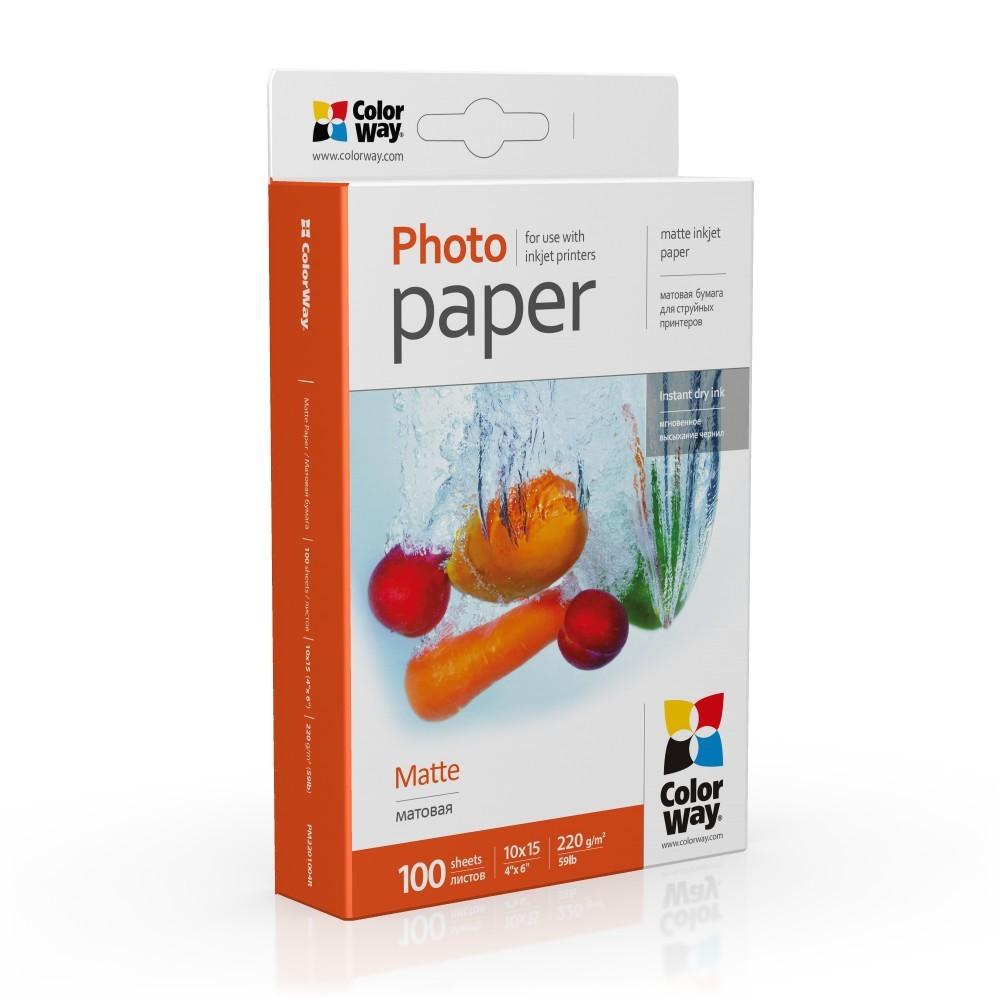 ColorWay PM2201004R Matte Photo Paper, White, 10 x 15 cm, 220 g/m²