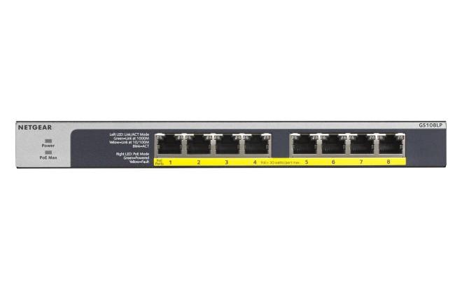 NETGEAR 8-Port PoE/PoE+ Gigabit Ethernet