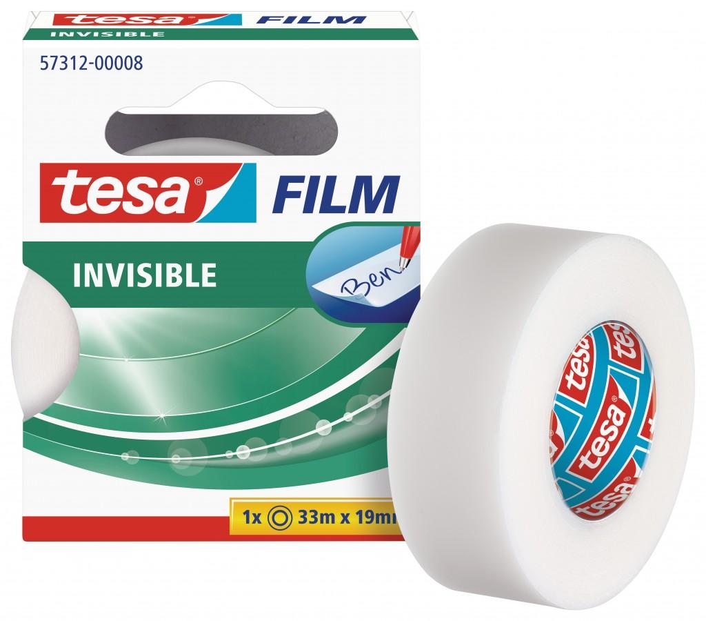 Teip Tesa Film, 33m x 19mm, läbipaistev, matt