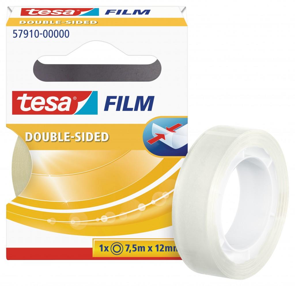 Teip kahepoolne Tesa, 7.5m x 12mm, läbipaistev