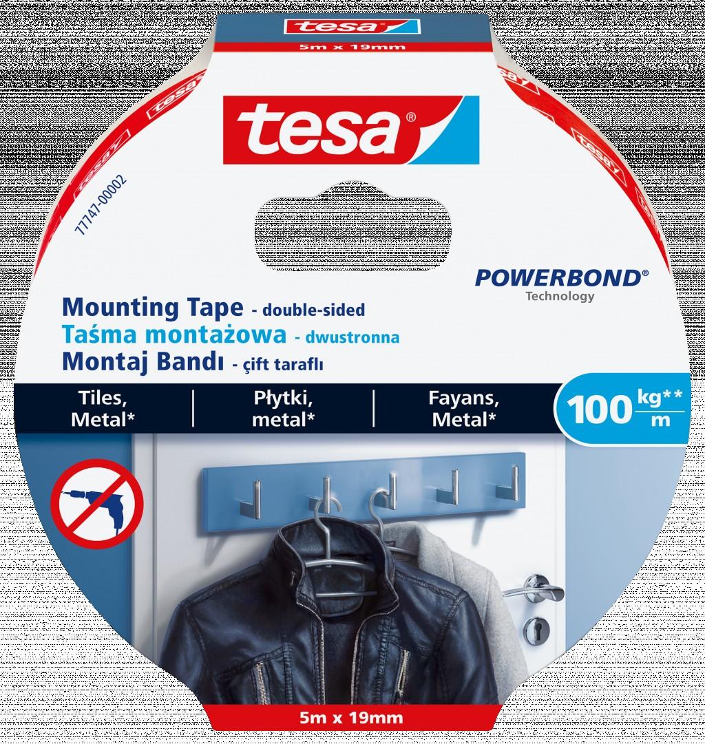 Kinnitusteip kahepoolne Tesa, 5m x 19mm