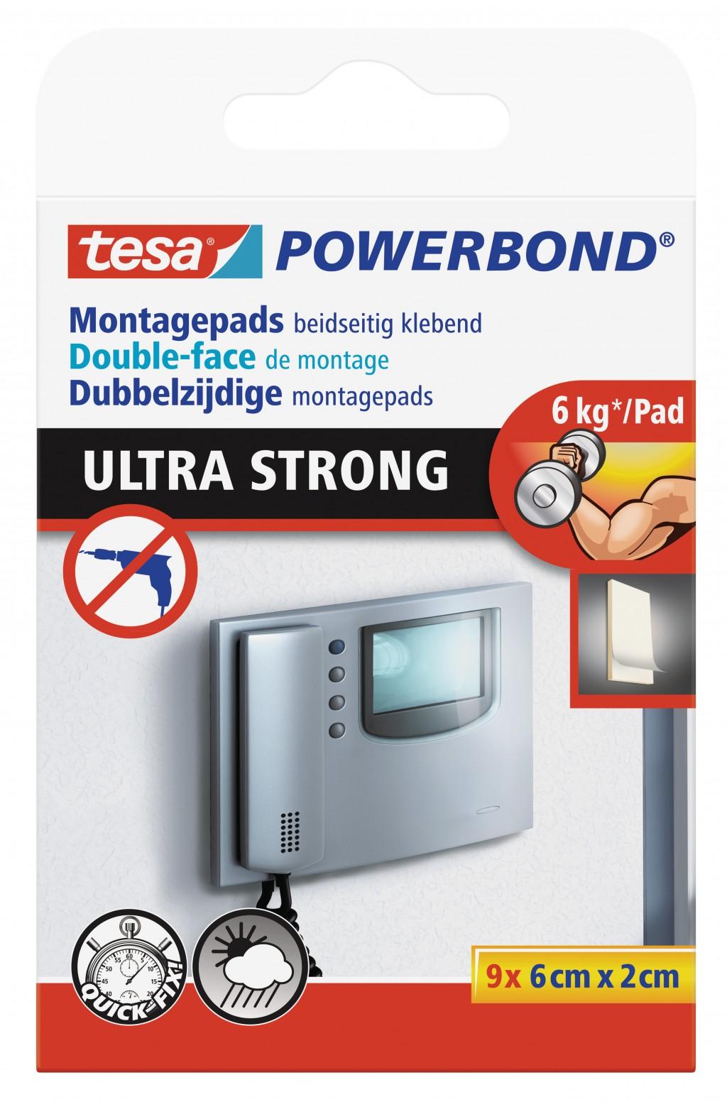 Kleepmass Tesa Ultra Strong ribad 6cm x 2cm, 9tk pakis