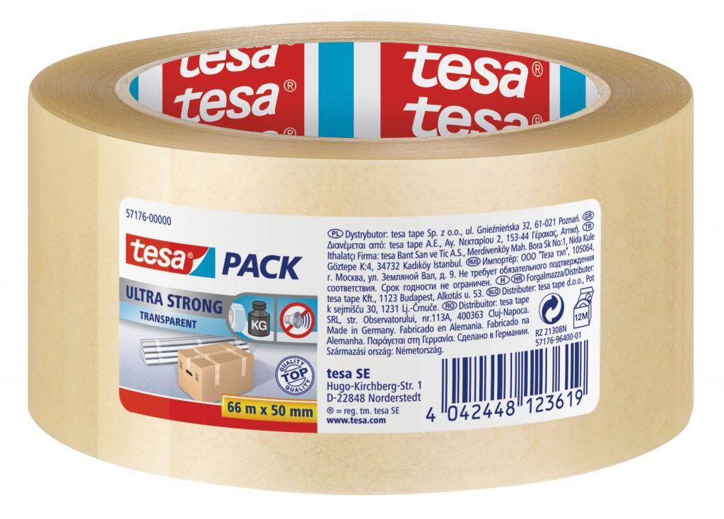 Pakketeip Tesa, 66m x 50mm, PVC