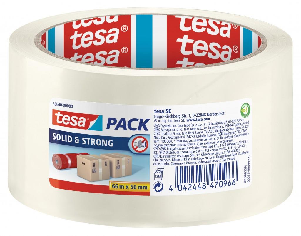 Pakketeip Tesa, 66m x 50mm, läbipaistev