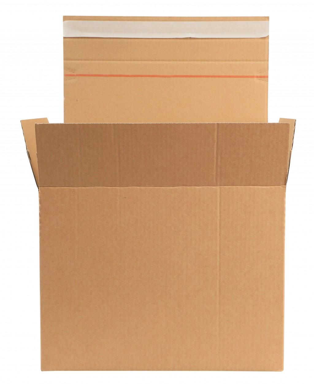 Pakkekast e-kaubanduse jaoks,  380mm x 285mm x 285/245/205mm