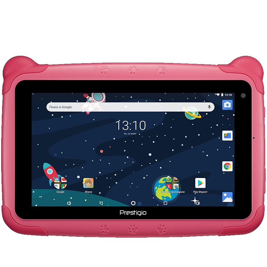 "Prestigio Smartkids, PMT3197_W_D_PK, wifi, 7"" 1024*600 IPS display, up to 1.3GHz quad core processor, android 8.1(go edition), 1GB RAM+16GB ROM, 0.3MP front+2MP rear camera,2500mAh battery"