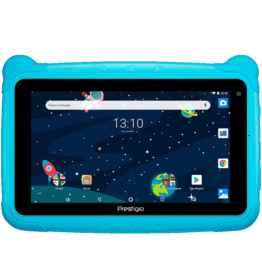 "Prestigio Smartkids, PMT3197_W_D_BE, wifi, 7"" 1024*600 IPS display, up to 1.3GHz quad core processor, android 8.1(go edition), 1GB RAM+16GB ROM, 0.3MP front+2MP rear camera,2500mAh battery"